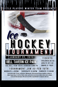 Hockey Flyer Plakat template
