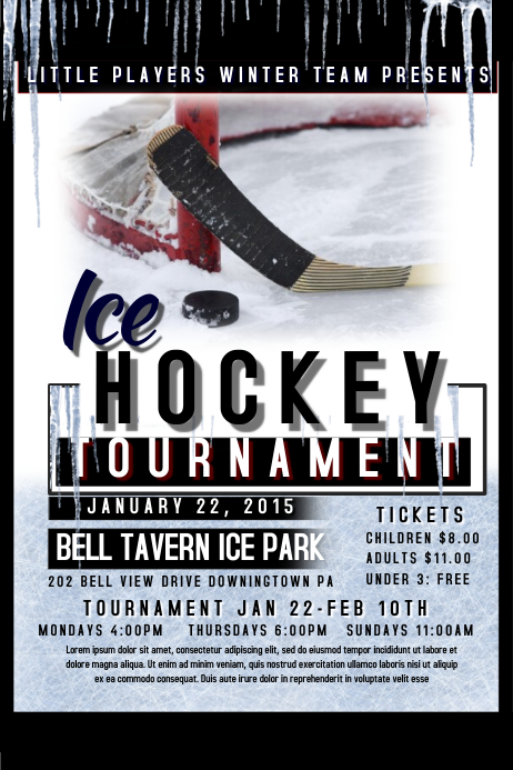 Hockey Flyer Poster template