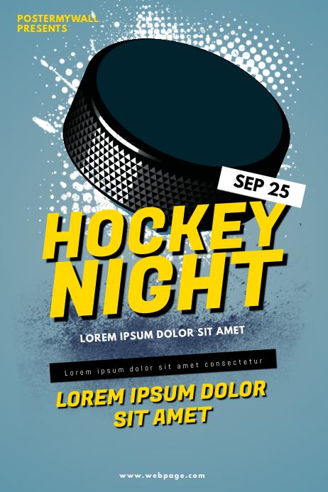Hockey Flyer Template Poster
