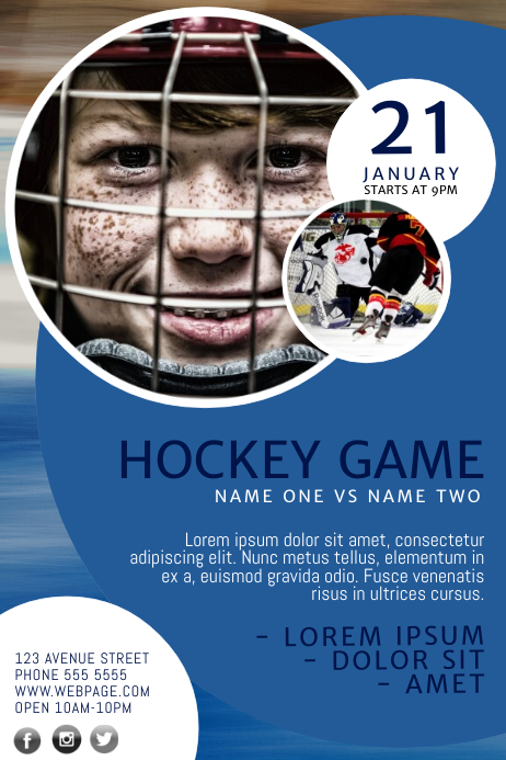 Hockey Flyer Template Postermywall