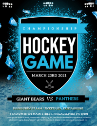 Hockey Game Flyer (US Letter) template