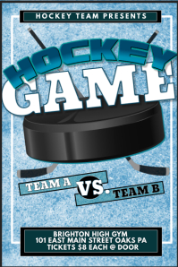 Hockey Game Poster Template