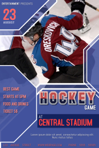 hockey game poster flyer template