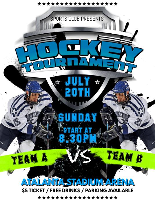 Hockey game flyer template postermywall hockey game flyer customize template maxwellsz