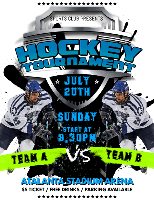 Hockey Game Flyer