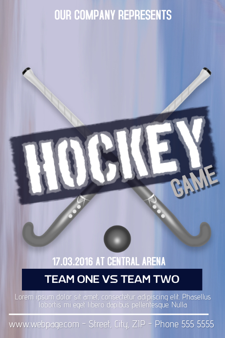 hockey game flyer template Poster