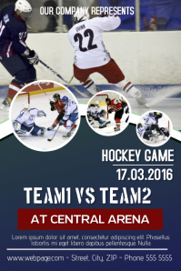 Hockey poster templates postermywall hockey game flyer template maxwellsz