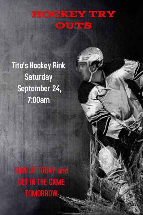 Hockey NEW Poster template
