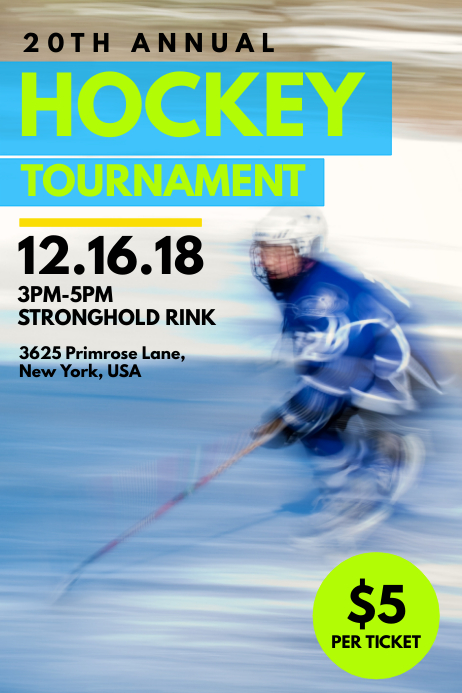 Hockey Poster Template