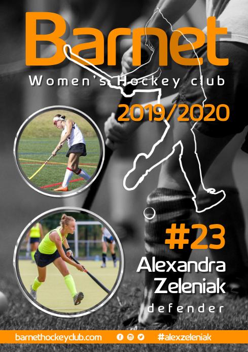 Hockey Team Poster A3 template