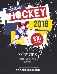 Hockey Tournament Event Flayer Ulotka (US Letter) template