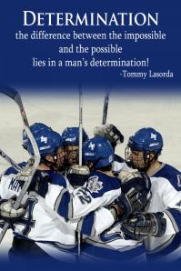 Hockey Poster tournament motivational inspirational sports