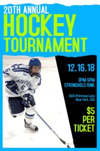 Hockey Tournament Poster Template