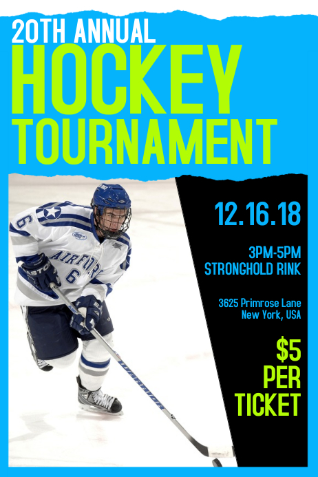 Hockey Tournament Poster Template