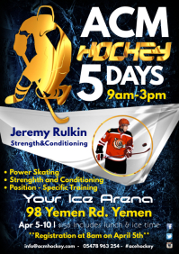 Hockey Training Poster Template