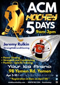 Hockey Training Poster Template