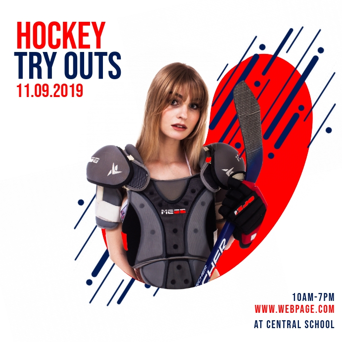 Hockey Try Outs Instagram Template