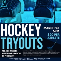 Hockey tryouts Pos Instagram template