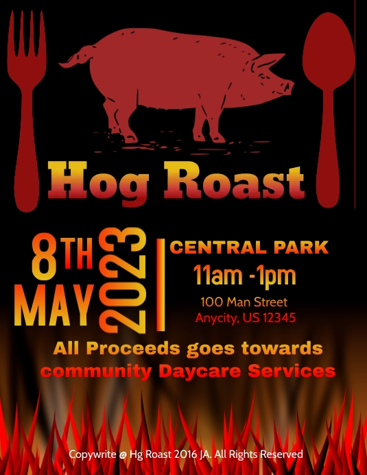 hog roast template postermywall