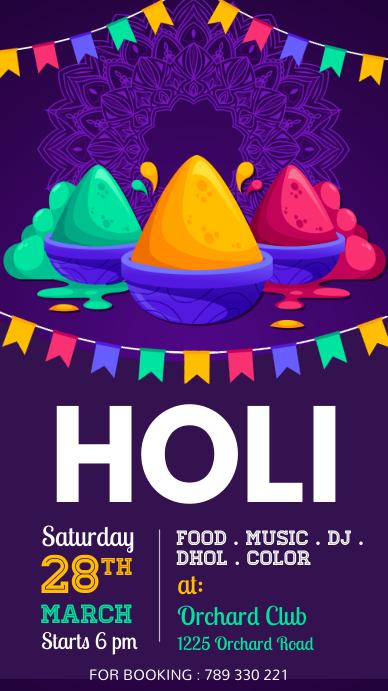 holi, diwali, holi festival, happy holi Instagram Story template