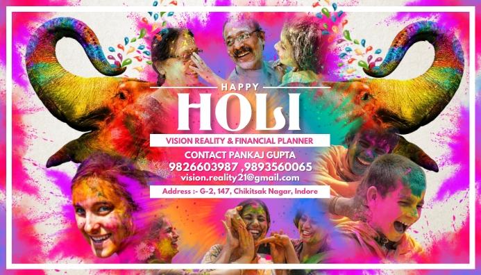 Holi Business Card Template Kartu Bisnis