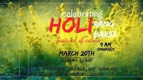 holi celebration Digital Display (16:9) template