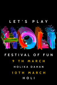 Holi Celebration Poster Template