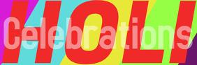 holi celebrations template Banner 2' × 6'