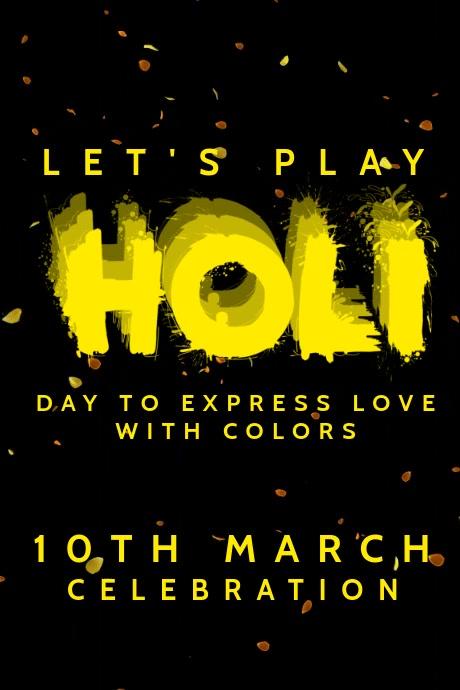 Holi Celebrations Video Template