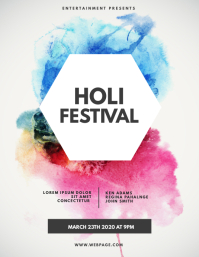 Holi Color Festival FLyer Template