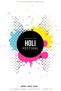 Holi Color Festival FLyer Template