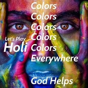 Holi color festival premium template