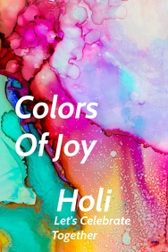 Holi color festival Template