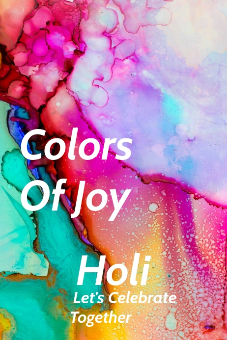 Holi color festival Template
