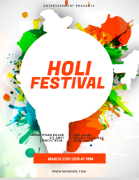 Holi Color Party Flyer Template
