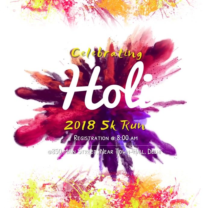 Holi Color Run Instagram Video Template