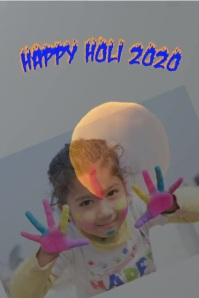 Holi Poster template
