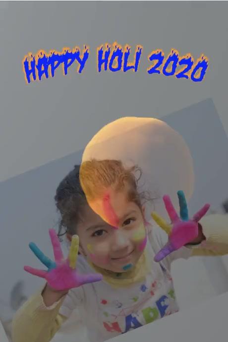 Holi Poster template
