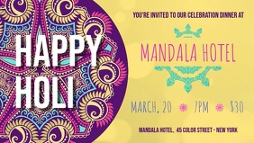 Holi Dinner Party Facebook Cover Video