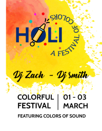 Holi DJ party template