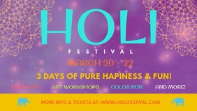 Holi Event Facebook Cover Video