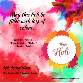 holi event poster Iphosti le-Instagram template