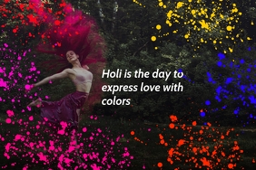 Holi Expressing Love poster template