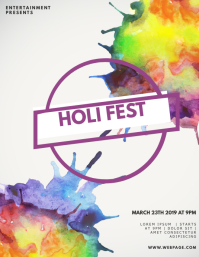 Holi Fest flyer template