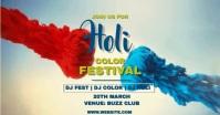 Holi festival Imagem partilhada do Facebook template