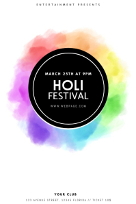 Holi Festival Flyer Design Template