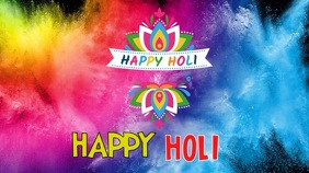 Holi festival india video background