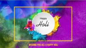 Holi - Festival of colour Digital Display (16:9) template