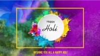 Holi - Festival of colour Digital na Display (16:9) template