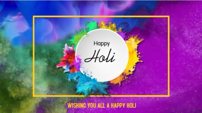 Holi - Festival of colour 数字显示屏 (16:9) template